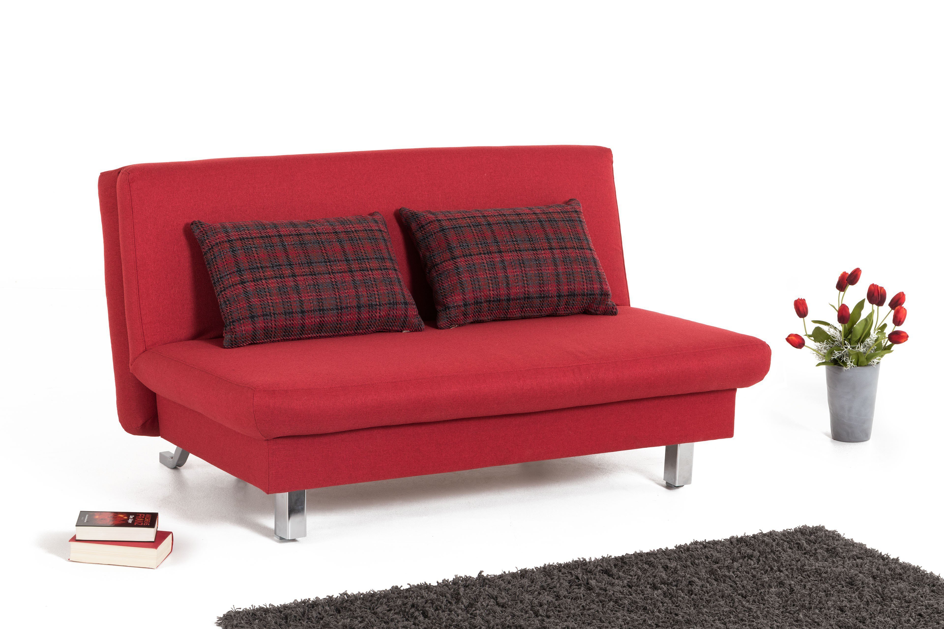 schlafsofa in rot restaurantbarend. Black Bedroom Furniture Sets. Home Design Ideas