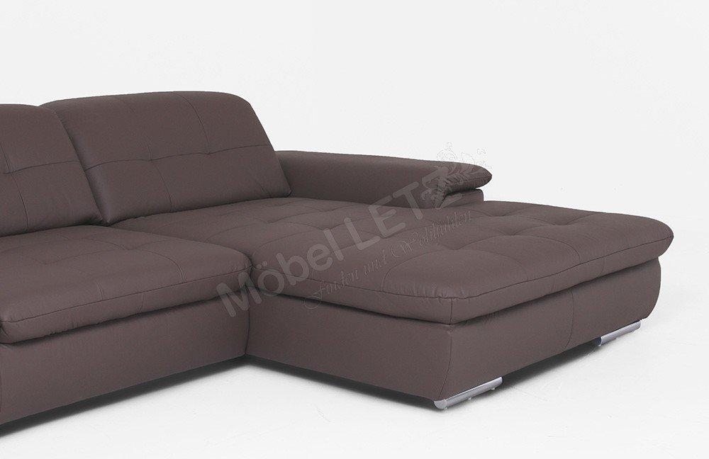 polinova ledersofa imago l braun m bel letz ihr online shop. Black Bedroom Furniture Sets. Home Design Ideas