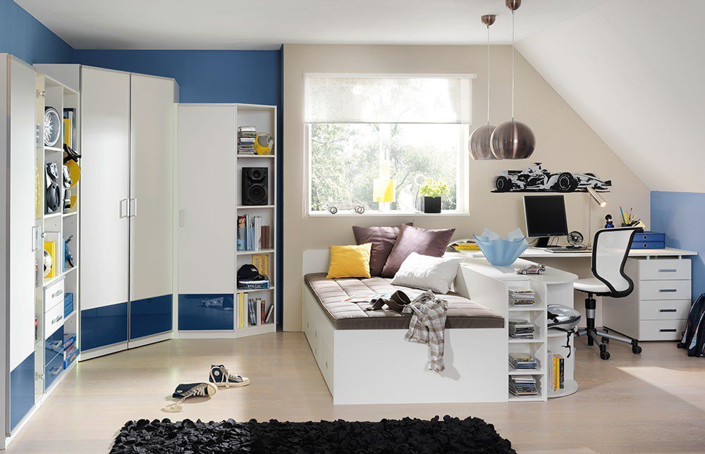 jugendzimmer finn wellem bel blau wei m bel letz. Black Bedroom Furniture Sets. Home Design Ideas