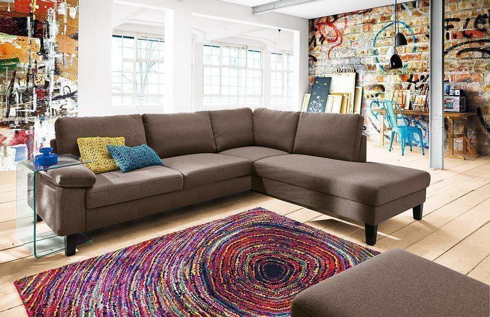 Candy mikado ecksofa in braun m bel letz ihr online shop for Ecksofa candy