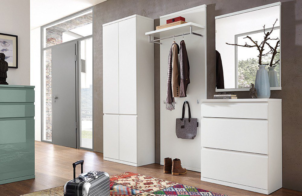 garderobe linaro enjoy in lack wei von rmw rietberger m bel letz ihr online shop. Black Bedroom Furniture Sets. Home Design Ideas