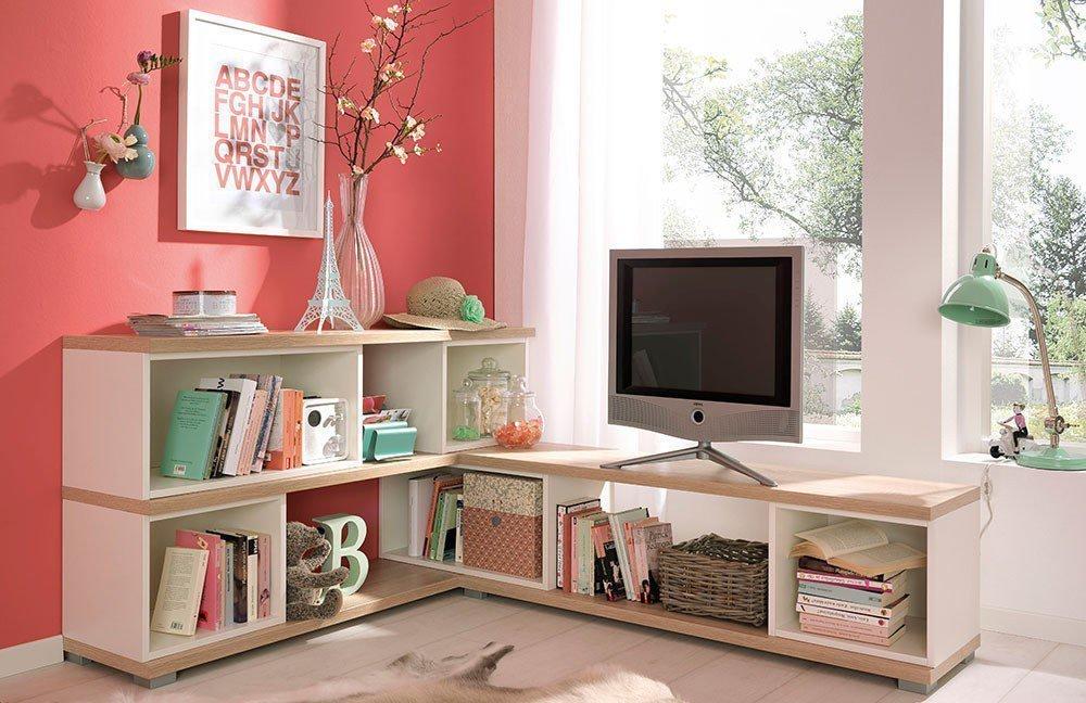 wellem bel teenio regalsystem wildeiche wei m bel letz ihr online shop. Black Bedroom Furniture Sets. Home Design Ideas