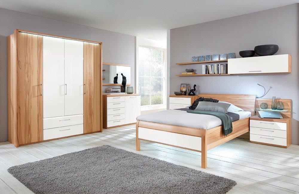 Comfort-V von Disselkamp - Schlafzimmer Luxushöhe Kernbuche