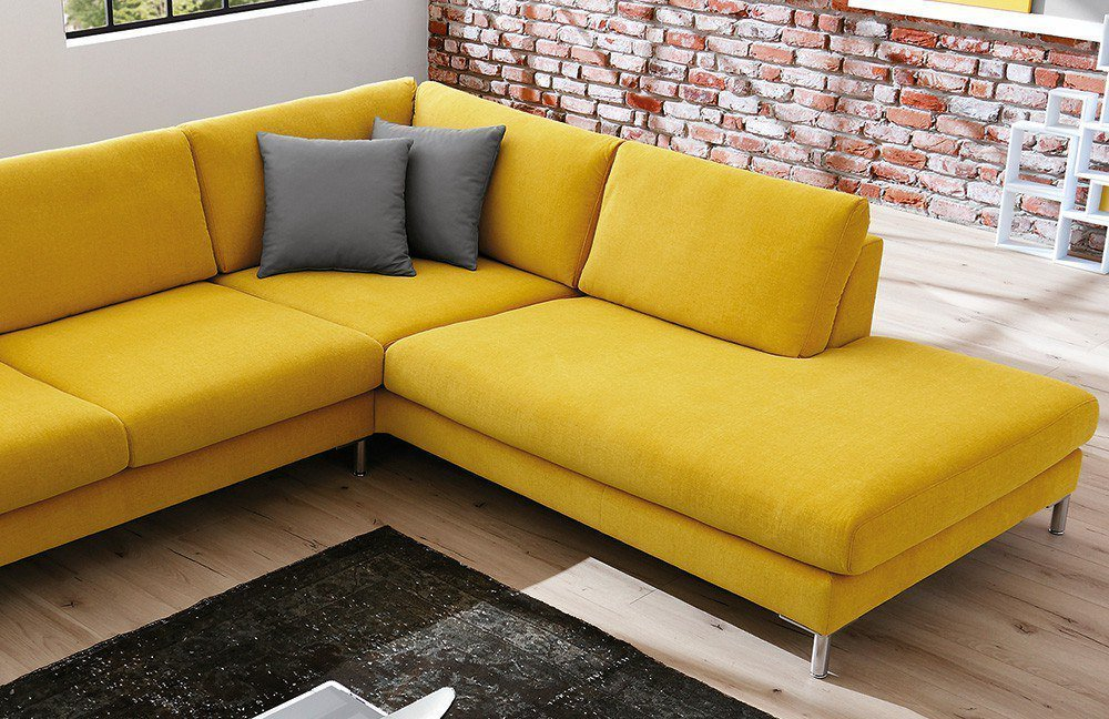 Candy ecksofa sotega in gelb m bel letz ihr online shop for Ecksofa candy