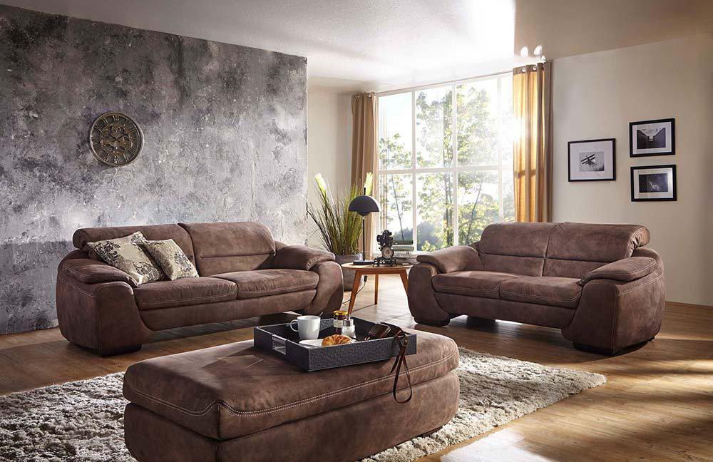 k w polsterm bel billy polstergarnitur braun m bel letz ihr online shop. Black Bedroom Furniture Sets. Home Design Ideas