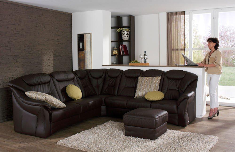 himolla polsterm bel 1551 ledergarnitur in braun m bel letz ihr online shop. Black Bedroom Furniture Sets. Home Design Ideas