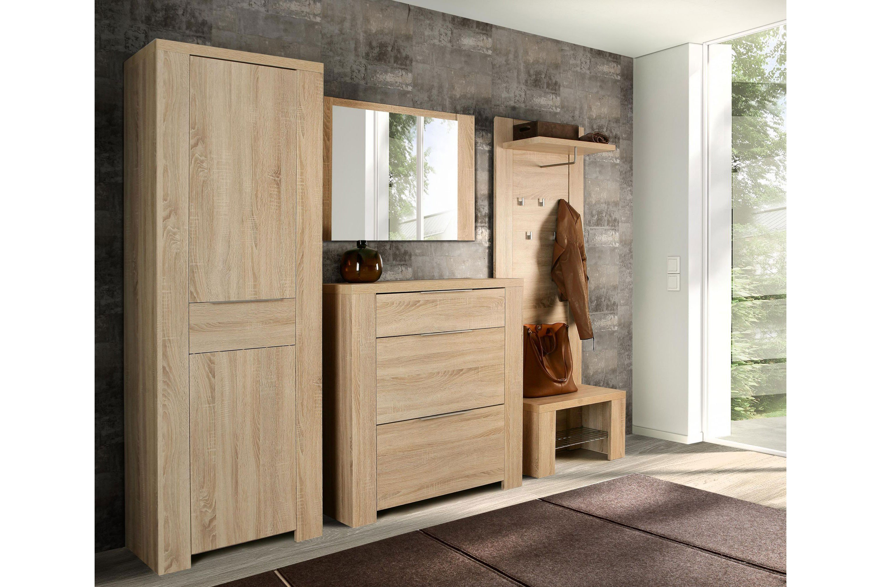 forte garderobe calpe sonoma eiche m bel letz ihr online shop. Black Bedroom Furniture Sets. Home Design Ideas