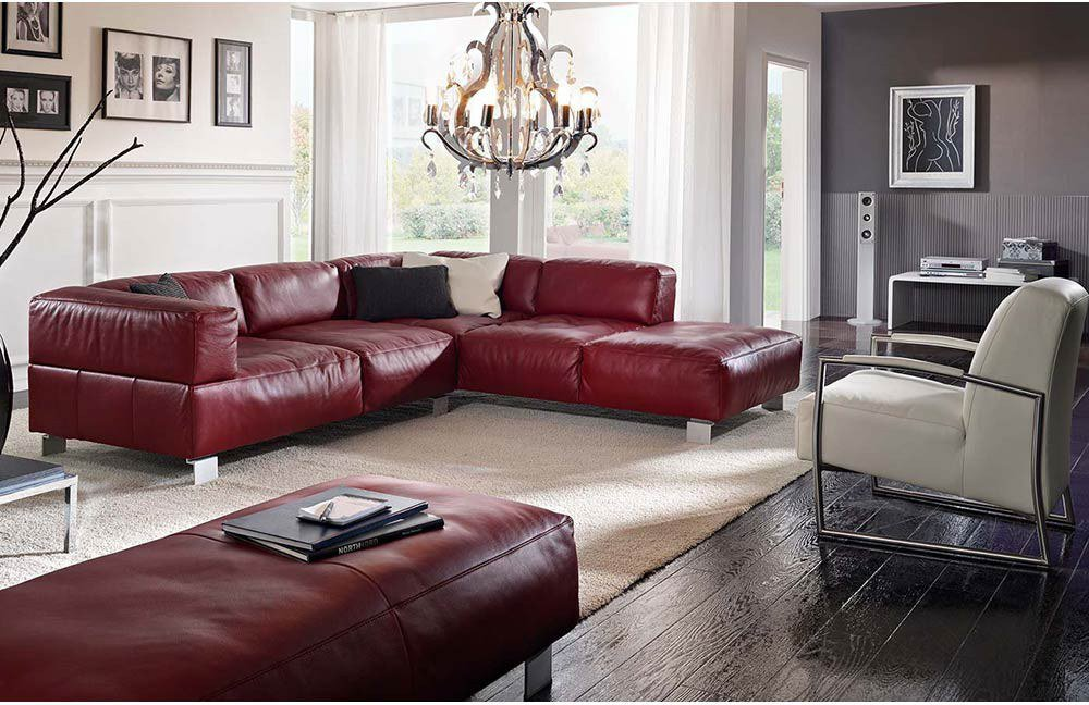 k w polsterm bel loft ledersofa rot m bel letz ihr online shop. Black Bedroom Furniture Sets. Home Design Ideas