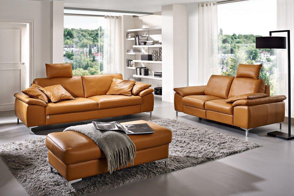 dietsch valentino ledergarnitur cognac m bel letz ihr online shop. Black Bedroom Furniture Sets. Home Design Ideas