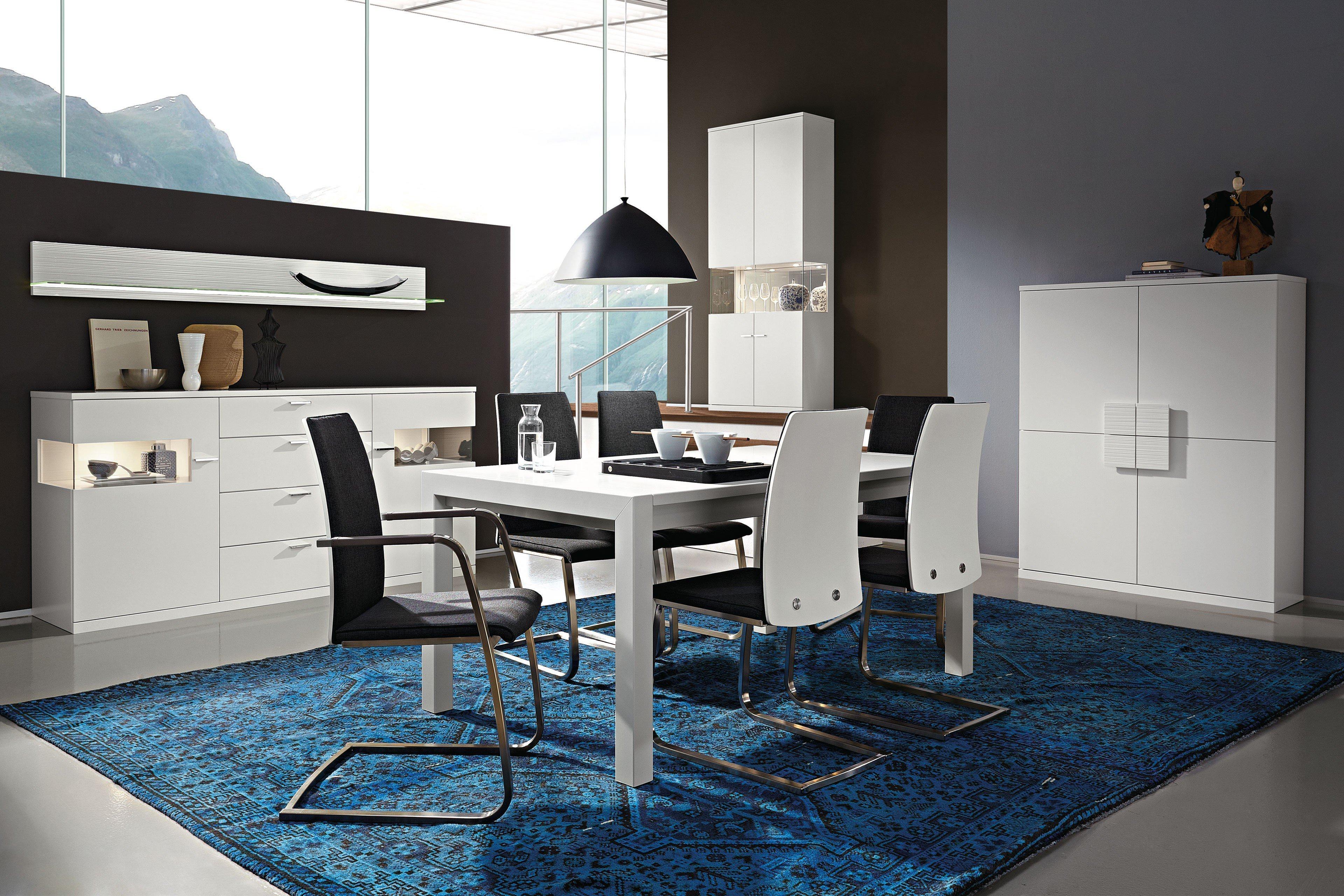 rietberger esszimmer lodano lack wei edelstahlfarbig m bel letz ihr online shop. Black Bedroom Furniture Sets. Home Design Ideas