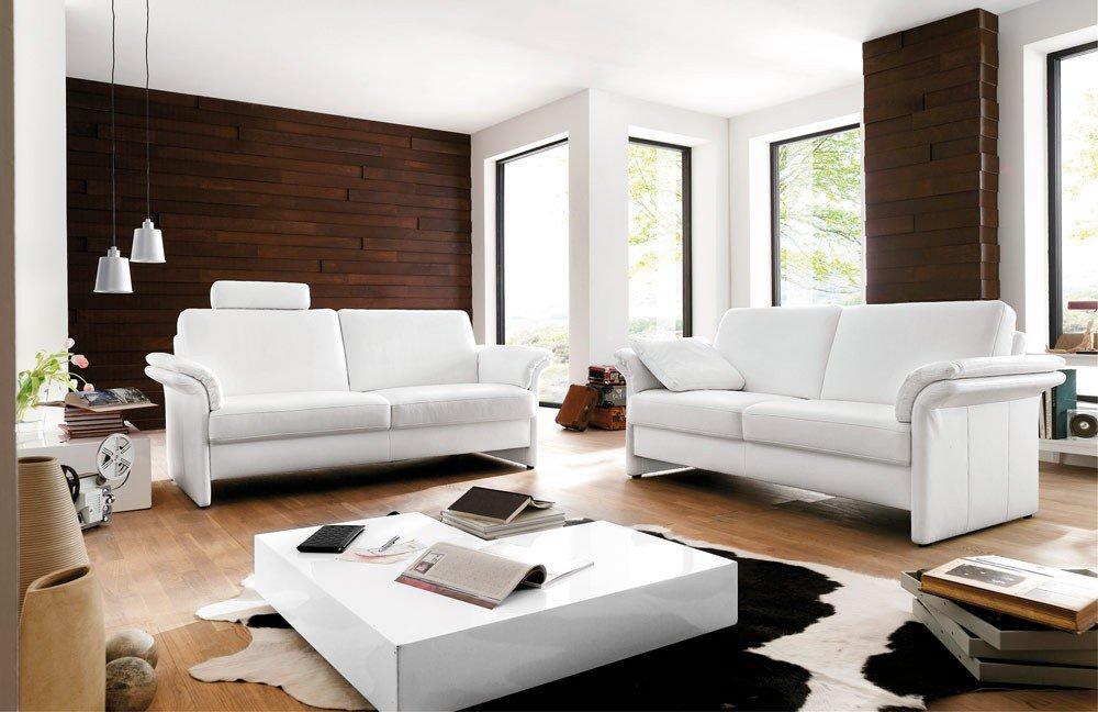 Carina Concept 3 Ledergarnitur in Weiß | Möbel Letz - Ihr Online-Shop