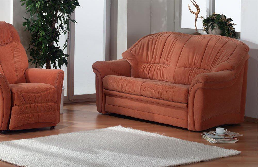 himolla 1813 3 sitzer mit schlaffunktion orange m bel letz ihr online shop. Black Bedroom Furniture Sets. Home Design Ideas