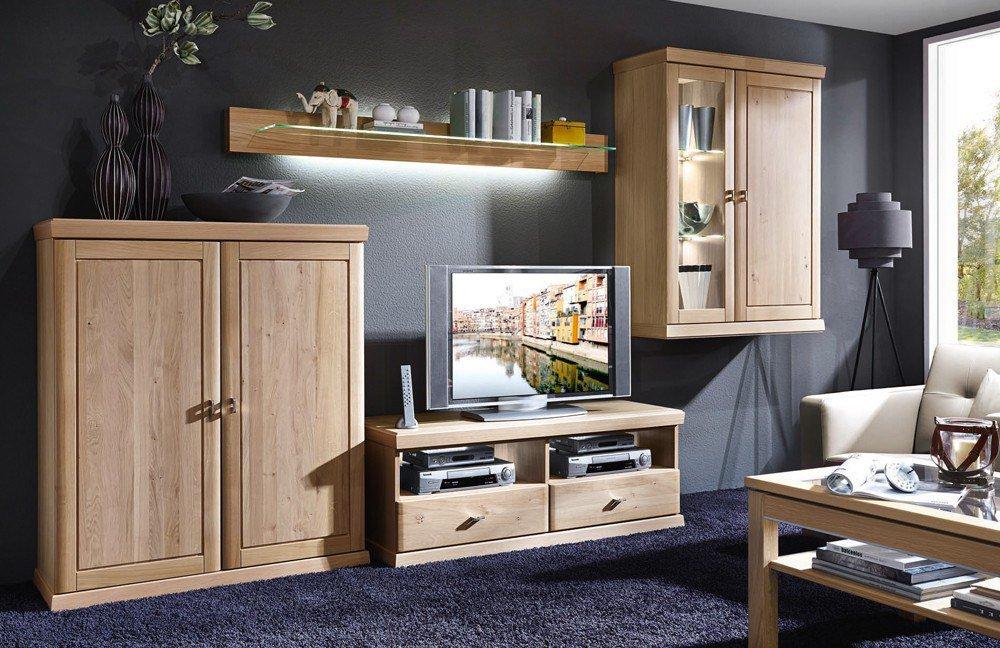 schr der m bel wohnwand cottage k002 asteiche m bel letz ihr online shop. Black Bedroom Furniture Sets. Home Design Ideas