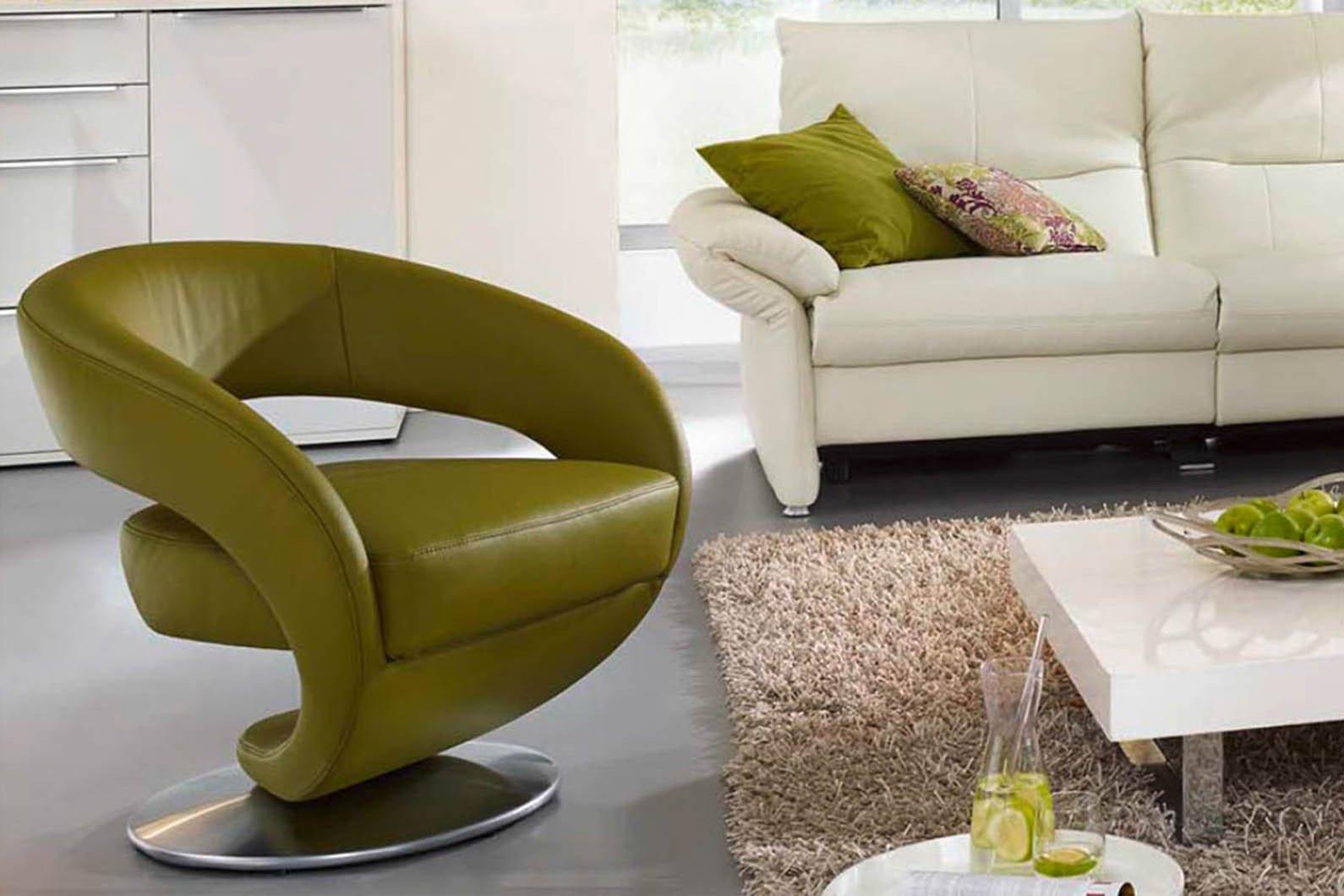 K+W Polstermöbel Kenzo Sessel grün| Möbel Letz - Ihr Online-Shop