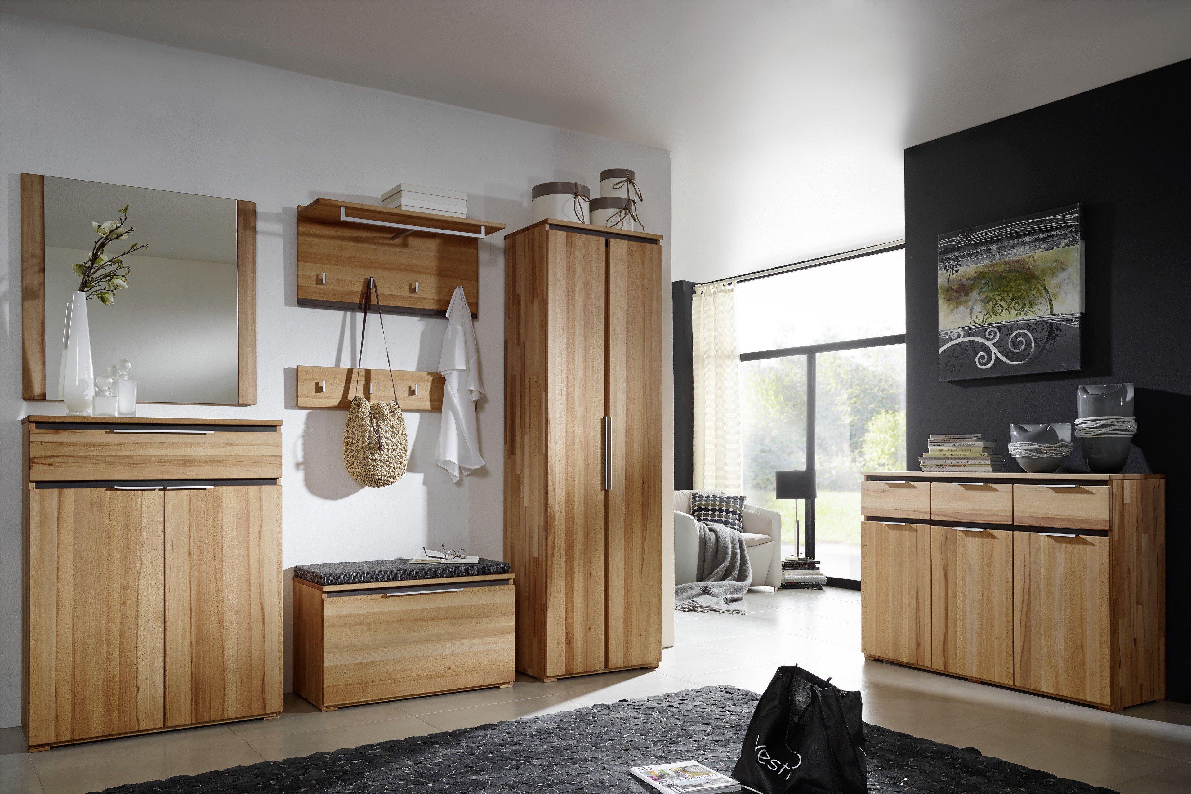 garderobe vincenza kernbuche von gradel m bel letz ihr online shop. Black Bedroom Furniture Sets. Home Design Ideas