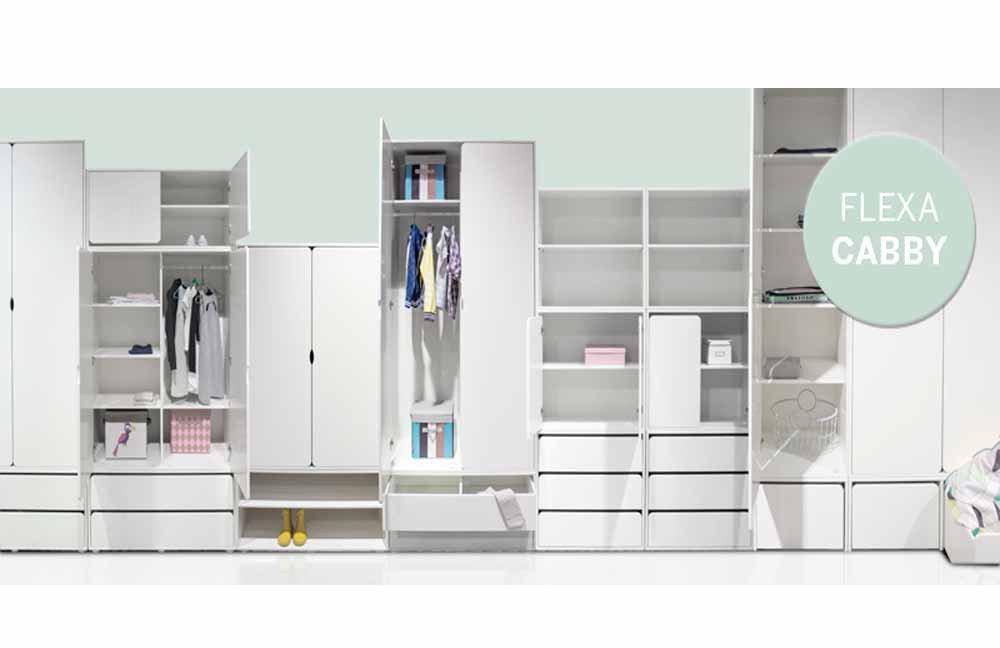 FLEXA Cabby Kleiderschrank weiß | Möbel Letz - Ihr Online-Shop