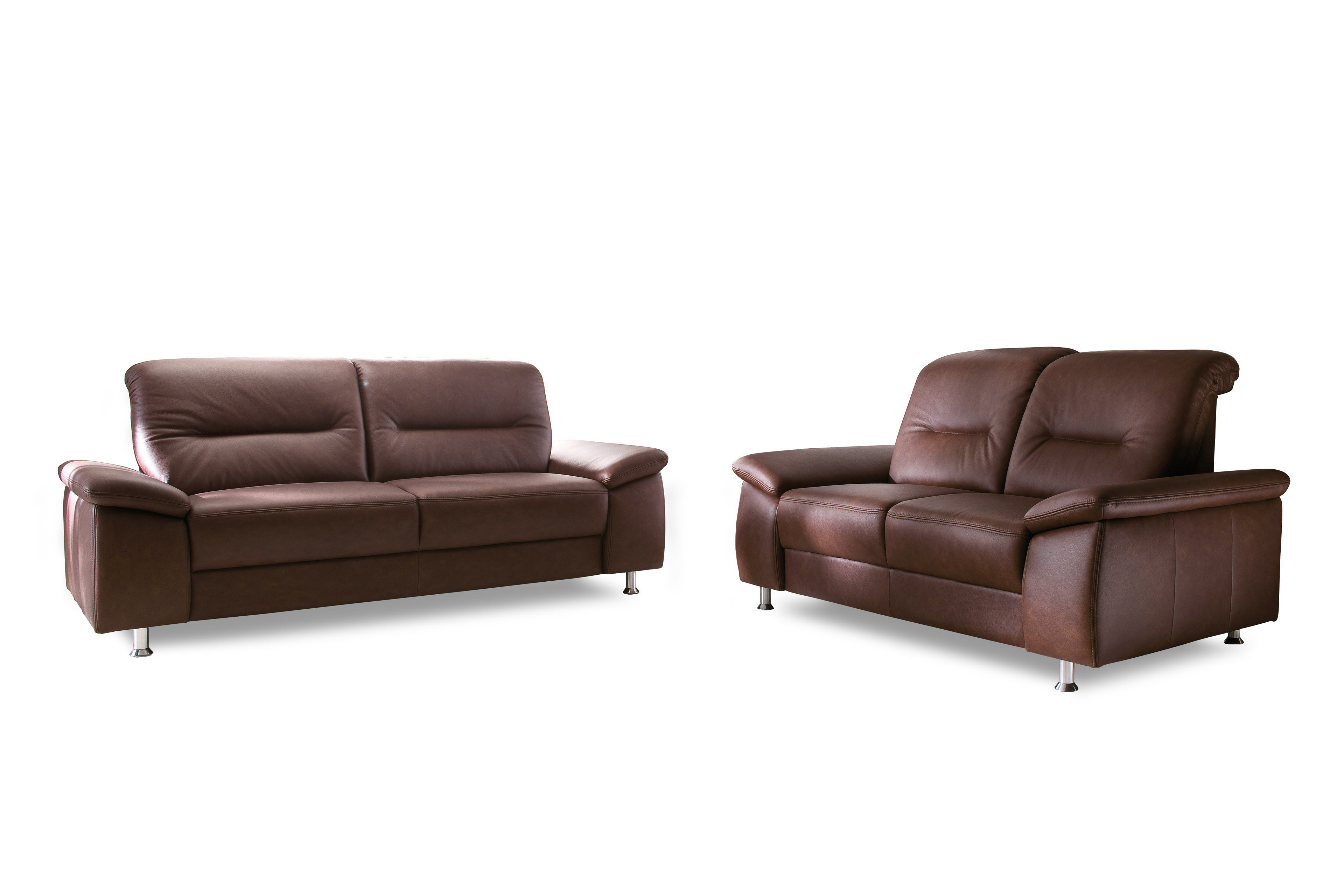 gruber polsterm bel colette sofa duo dunkelbraun m bel letz ihr online shop. Black Bedroom Furniture Sets. Home Design Ideas