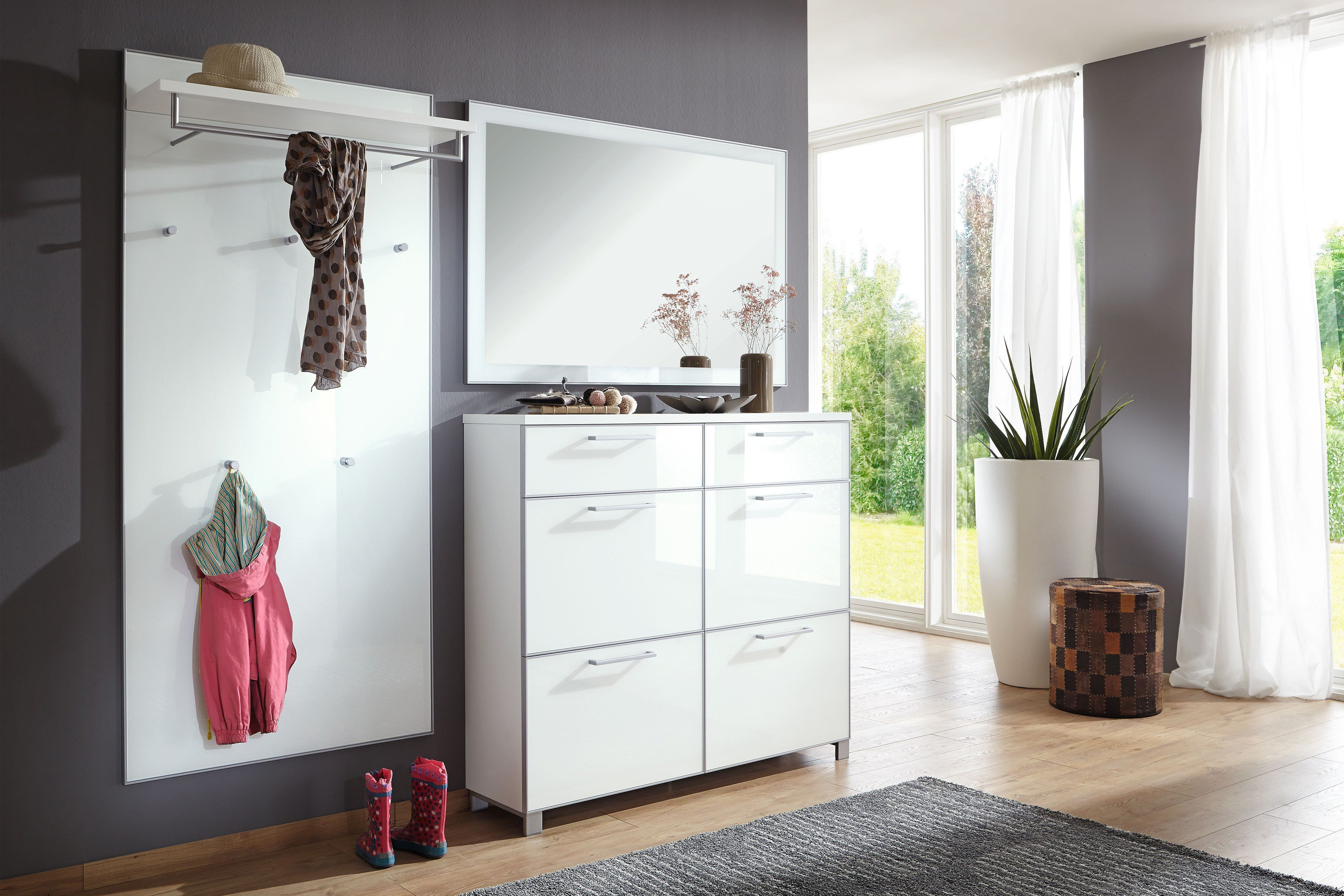 flurgarderobe santina lack wei von voss m bel m bel letz ihr online shop. Black Bedroom Furniture Sets. Home Design Ideas
