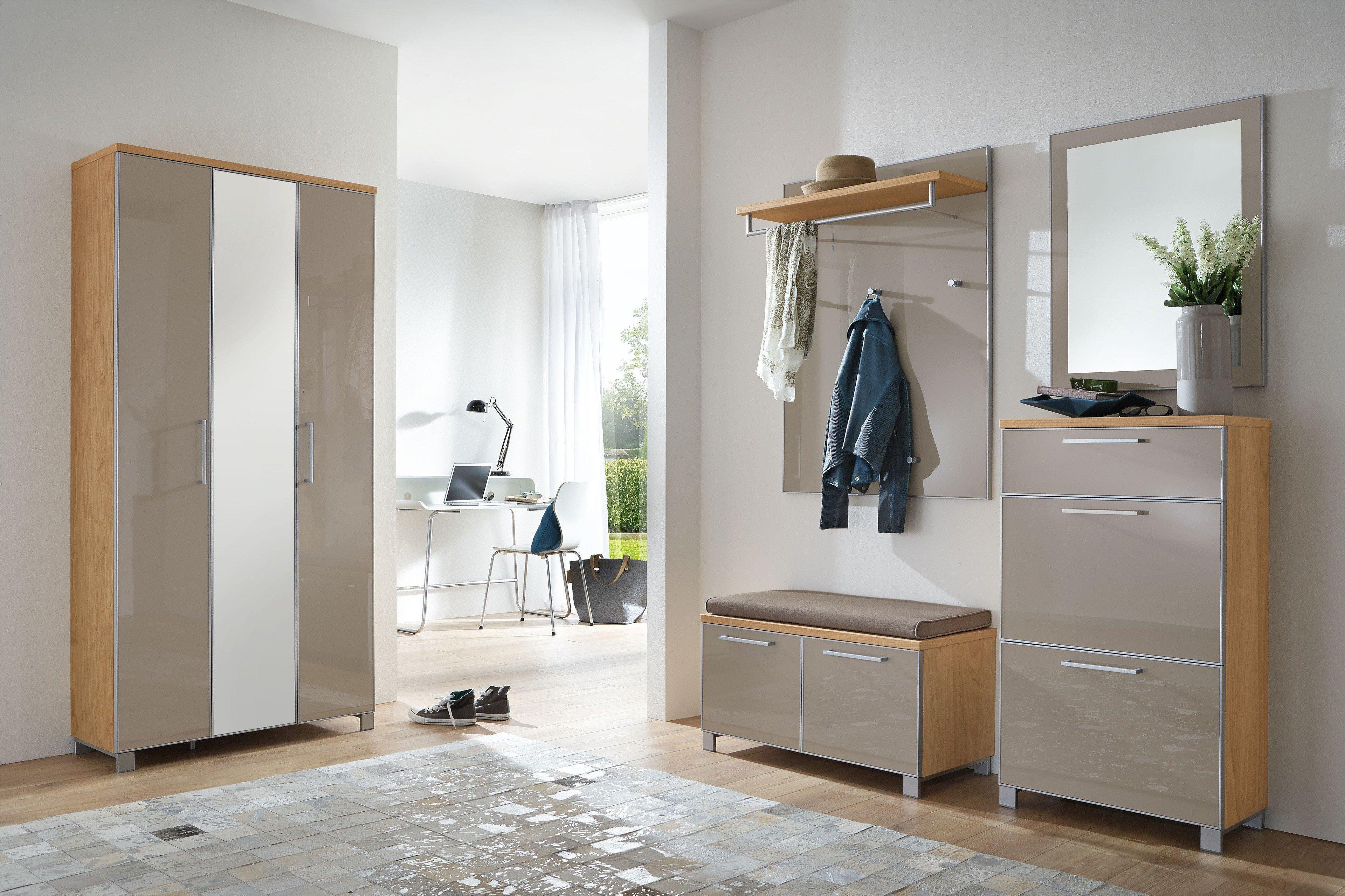 voss garderobe santina eiche bianco und taupe m bel letz ihr online shop. Black Bedroom Furniture Sets. Home Design Ideas
