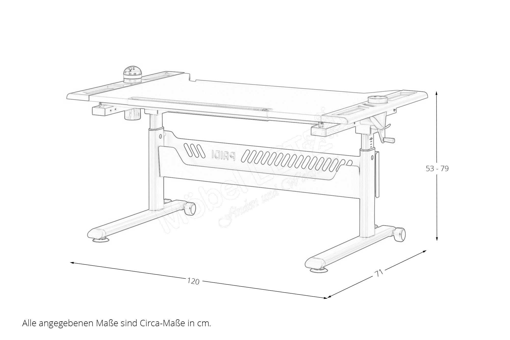 paidi tablo arbeitsplatz h henverstellbar m bel letz ihr online shop. Black Bedroom Furniture Sets. Home Design Ideas