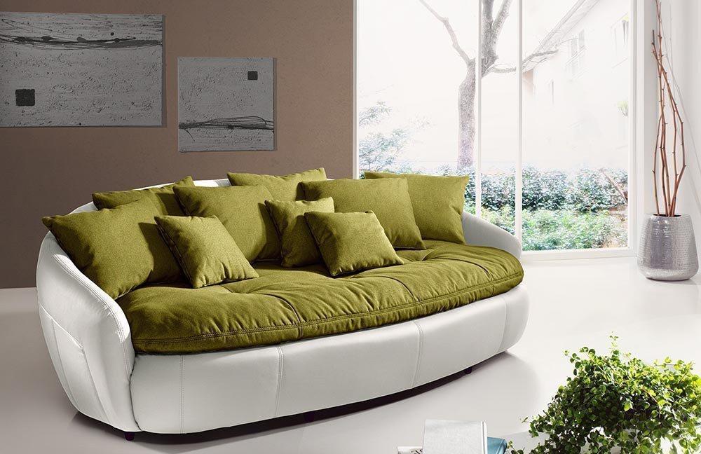cotta aruba ii bigsofa gr n wei m bel letz ihr online shop. Black Bedroom Furniture Sets. Home Design Ideas