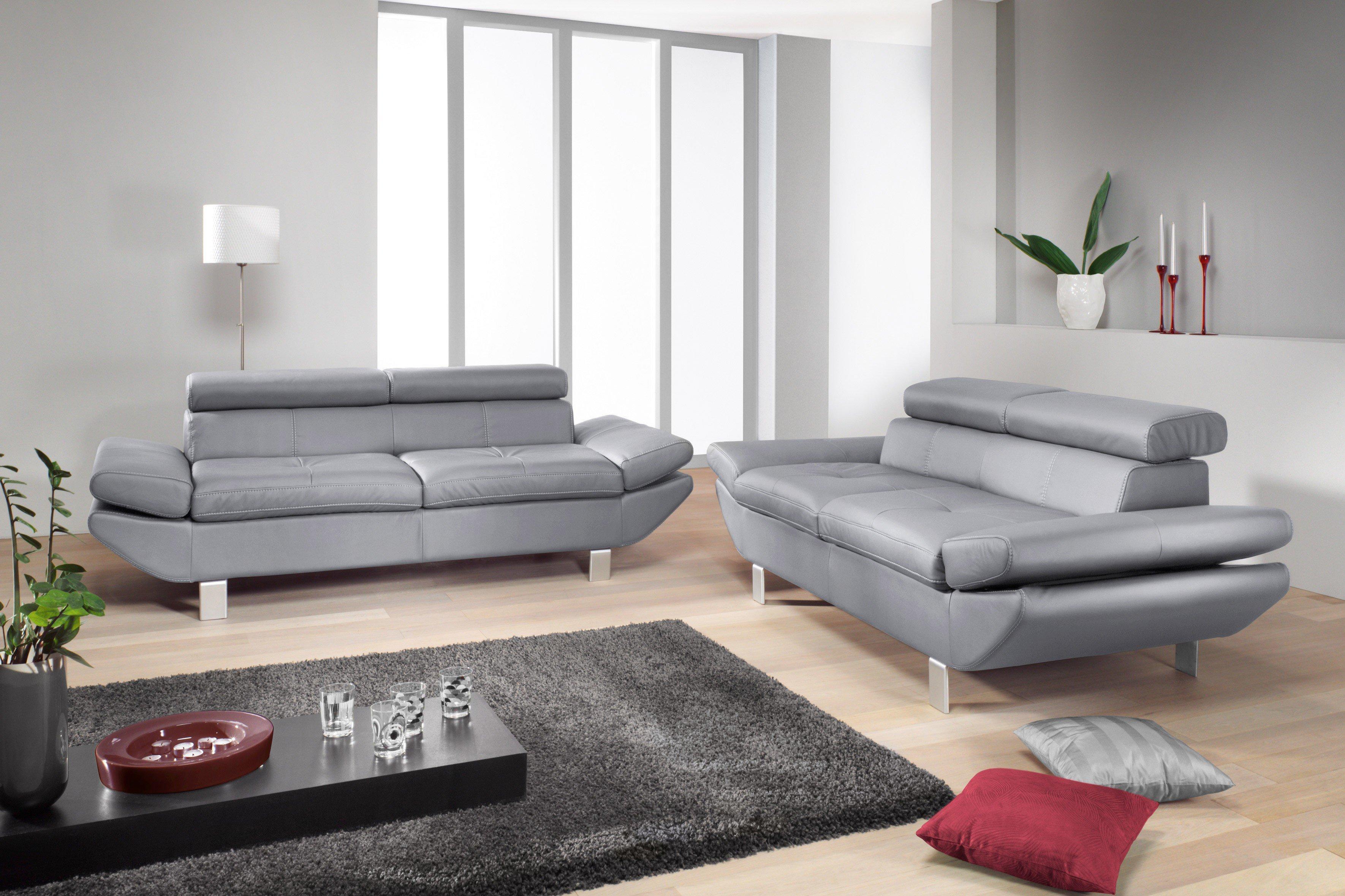 cotta carrier polstergarnitur grau m bel letz ihr online shop. Black Bedroom Furniture Sets. Home Design Ideas