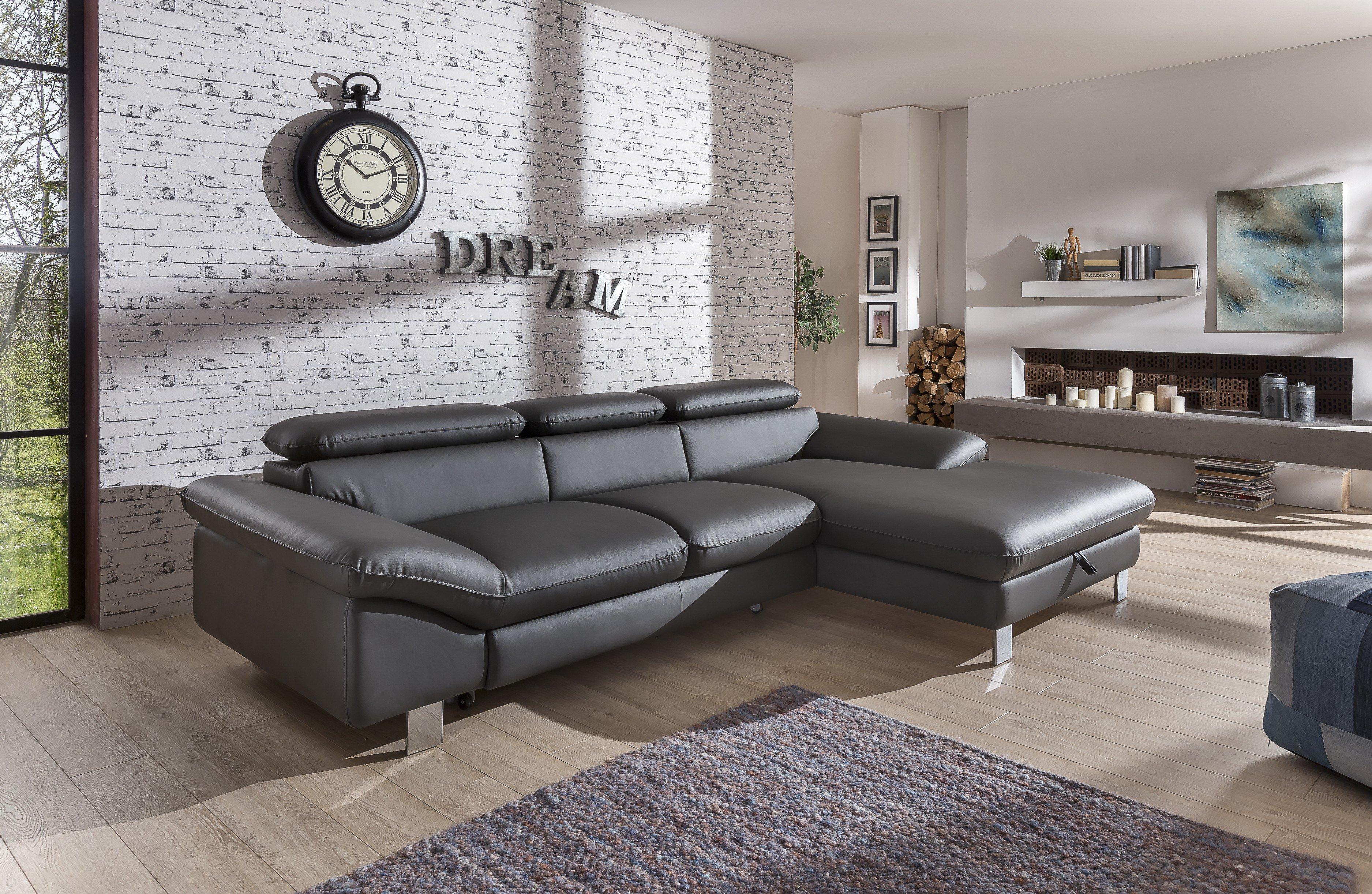 cotta driver eckcouch in dunkelgrau m bel letz ihr online shop. Black Bedroom Furniture Sets. Home Design Ideas