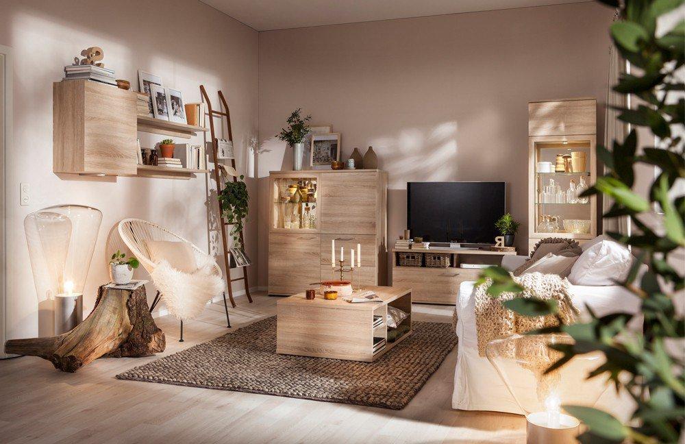 wohnwand rio at home in eiche von cs schmalm bel m bel letz ihr online shop. Black Bedroom Furniture Sets. Home Design Ideas