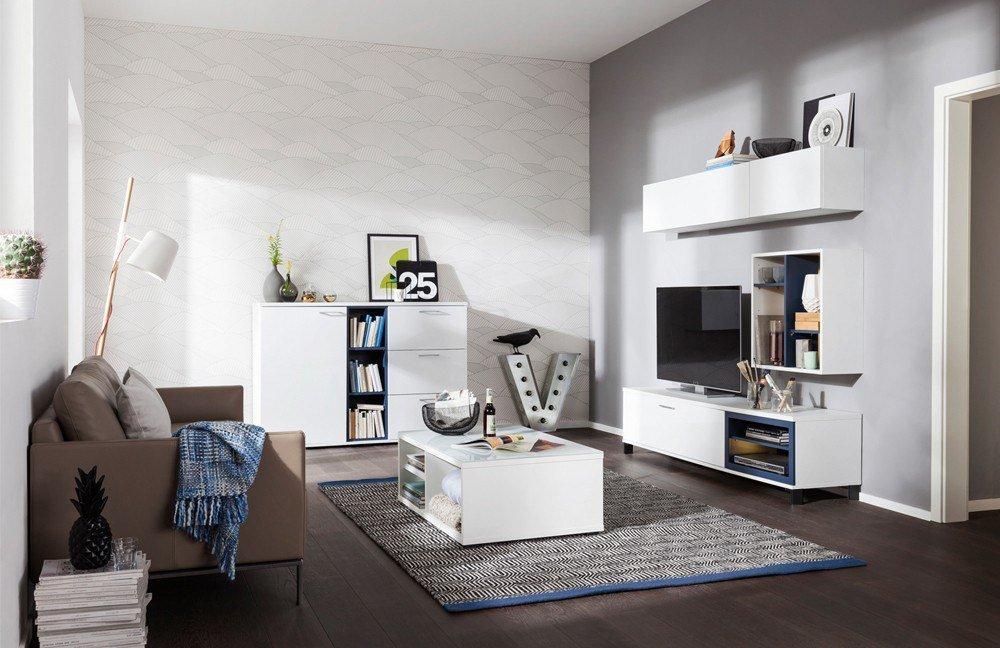 wohnwand rio at home wei blaubeere von cs schmalm bel m bel letz ihr online shop. Black Bedroom Furniture Sets. Home Design Ideas
