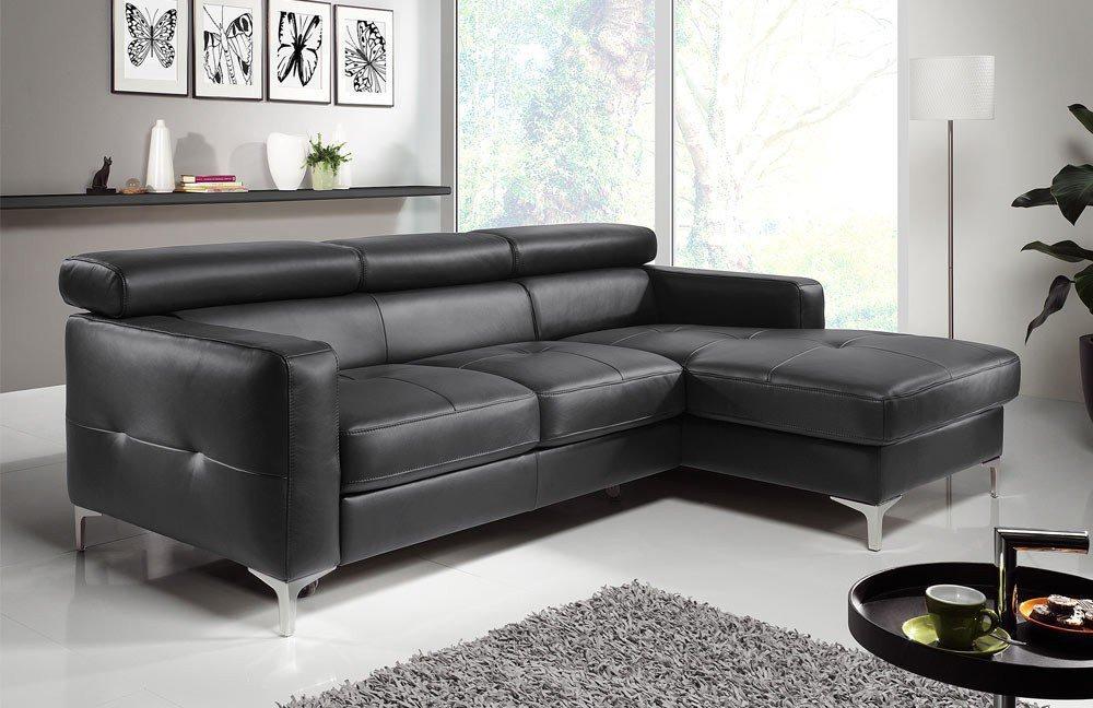 cotta sammy ecksofa in schwarzem kunstleder m bel letz ihr online shop. Black Bedroom Furniture Sets. Home Design Ideas