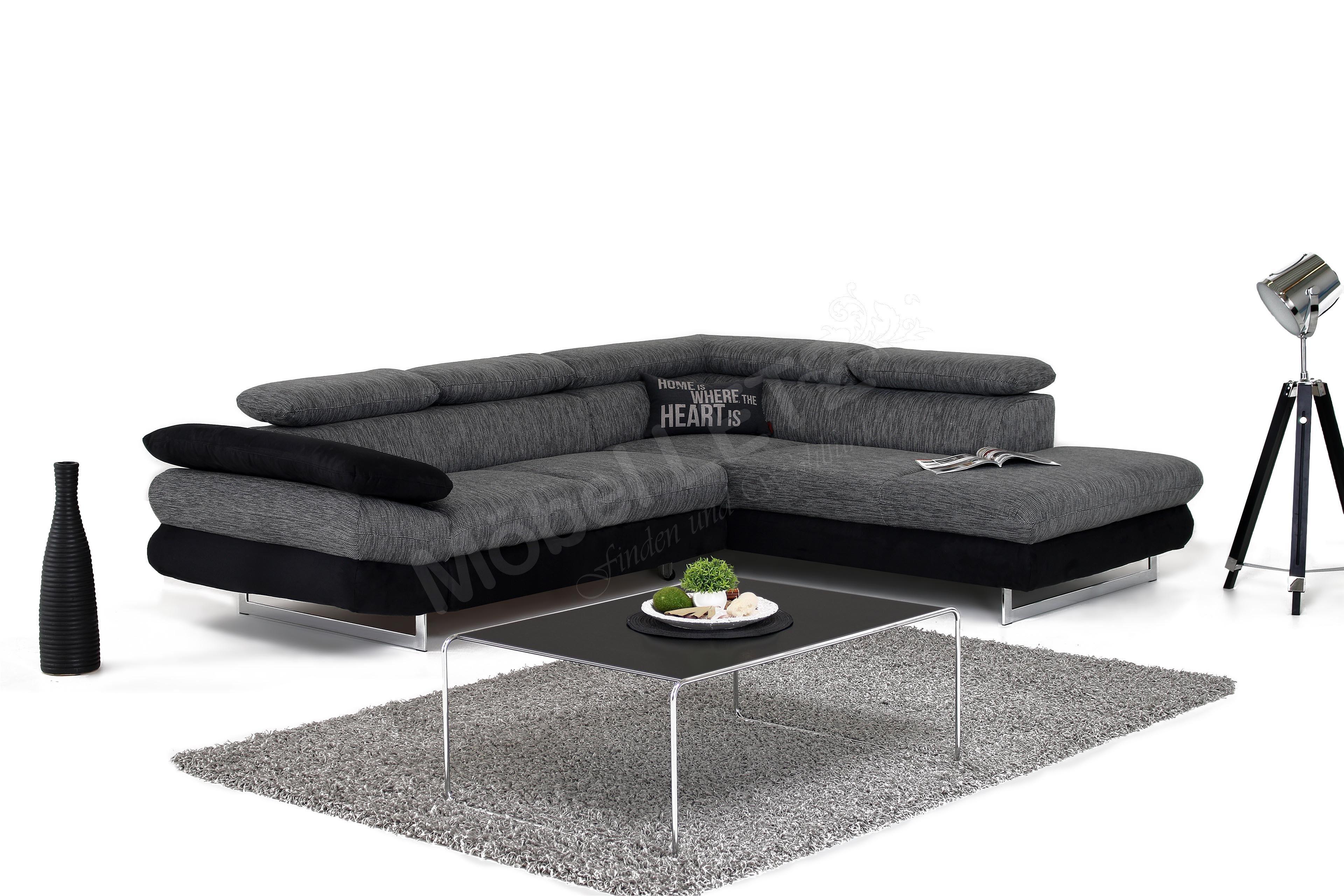Ecksofa grau schwarz  COTTA Solution Sofa im Bezugsmix grau-schwarz | Möbel Letz - Ihr ...
