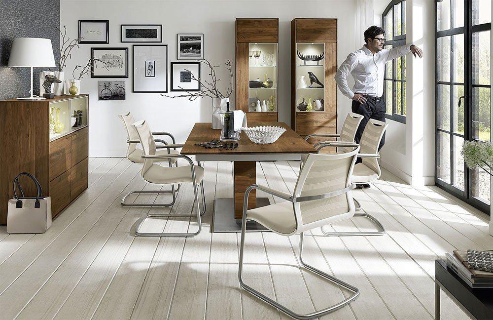 esszimmer laurea/ virginia colorado nussbaum/ grau-beige von, Innenarchitektur ideen