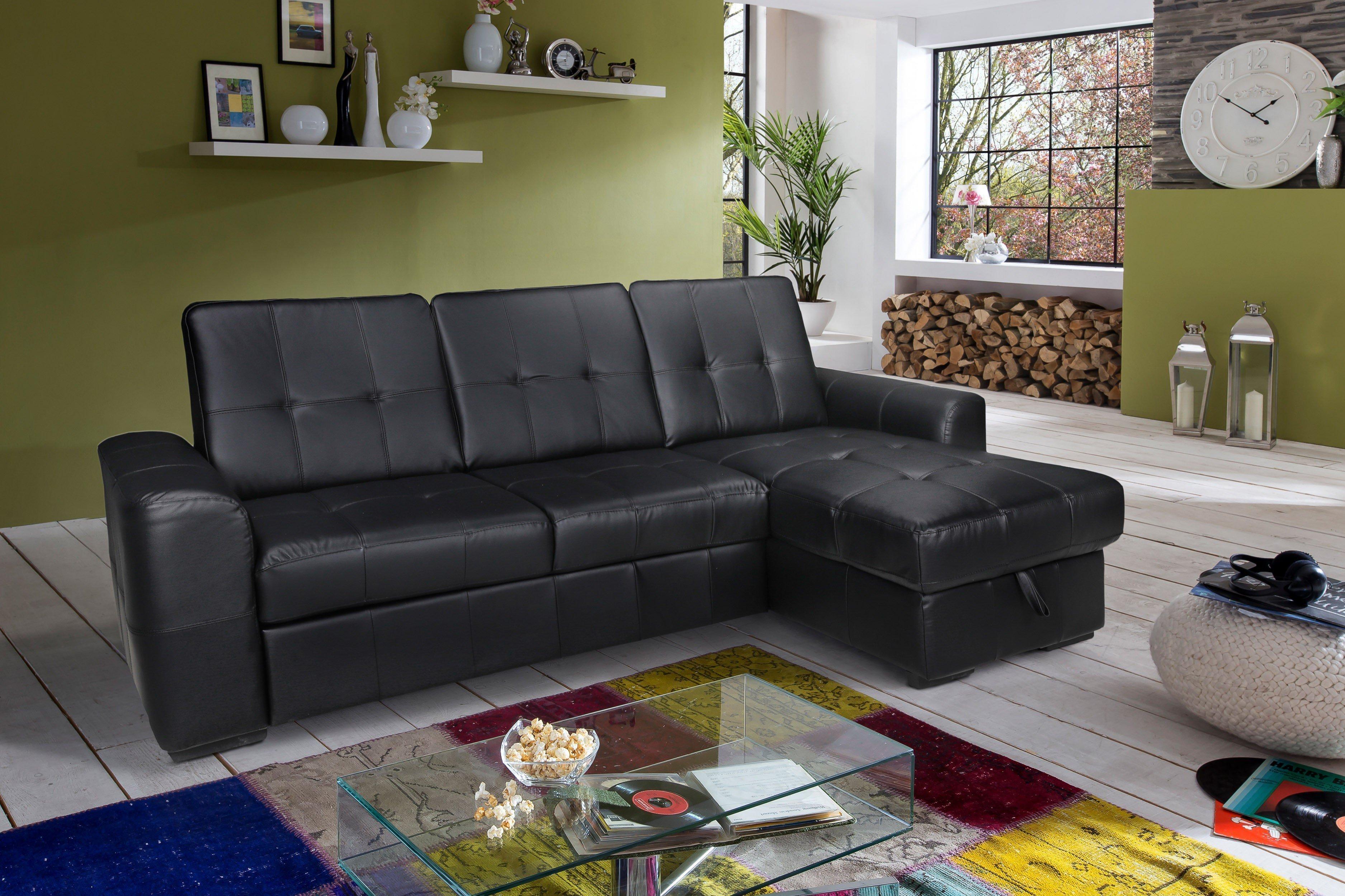 cotta track polstergarnitur in schwarz m bel letz ihr online shop. Black Bedroom Furniture Sets. Home Design Ideas