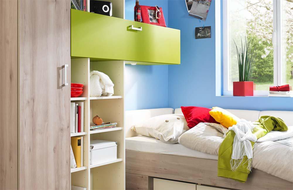 rudolf elmore jugendzimmer creme gr n sandeiche m bel. Black Bedroom Furniture Sets. Home Design Ideas