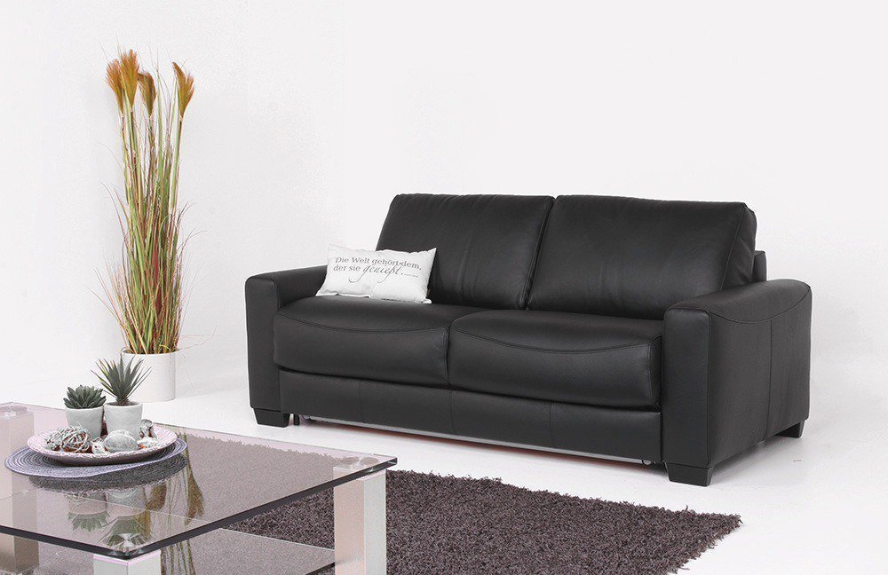 ledersofa dunkelbraun. Black Bedroom Furniture Sets. Home Design Ideas