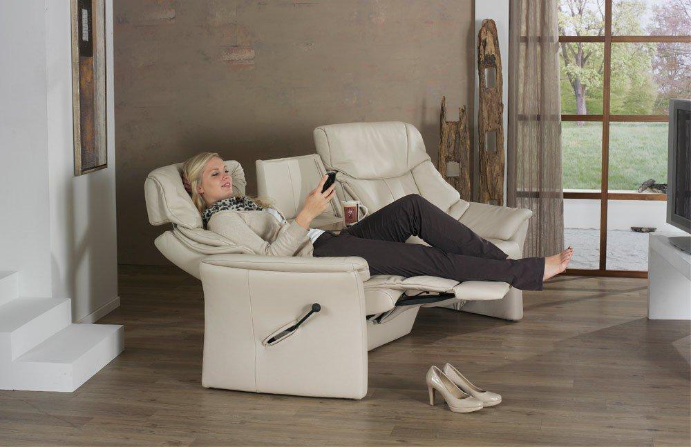 himolla polsterm bel 4124 trapezsofa in beige m bel letz. Black Bedroom Furniture Sets. Home Design Ideas