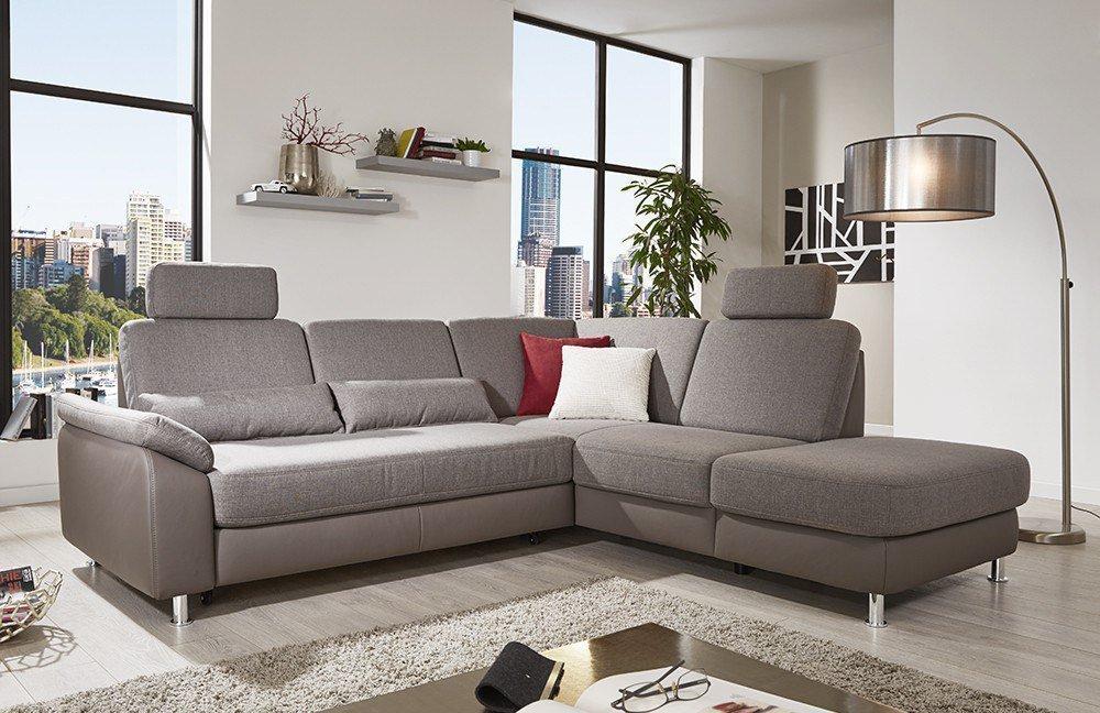 sit more luzern ecksofa grau braun m bel letz ihr. Black Bedroom Furniture Sets. Home Design Ideas