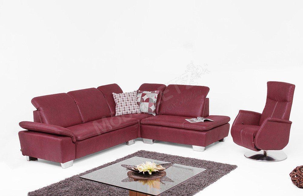 EMP Extasy 384 Sofa rot   Möbel Letz - Ihr Online-Shop