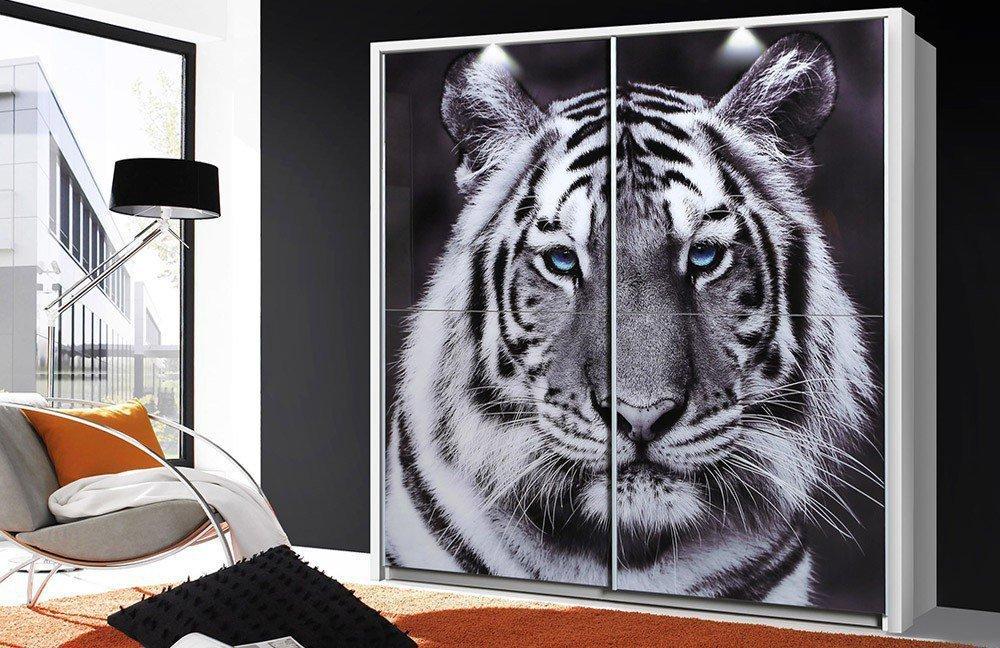Forte Yanis Tiger Kleiderschrank Tiermotiv   Möbel Letz - Ihr Online ...