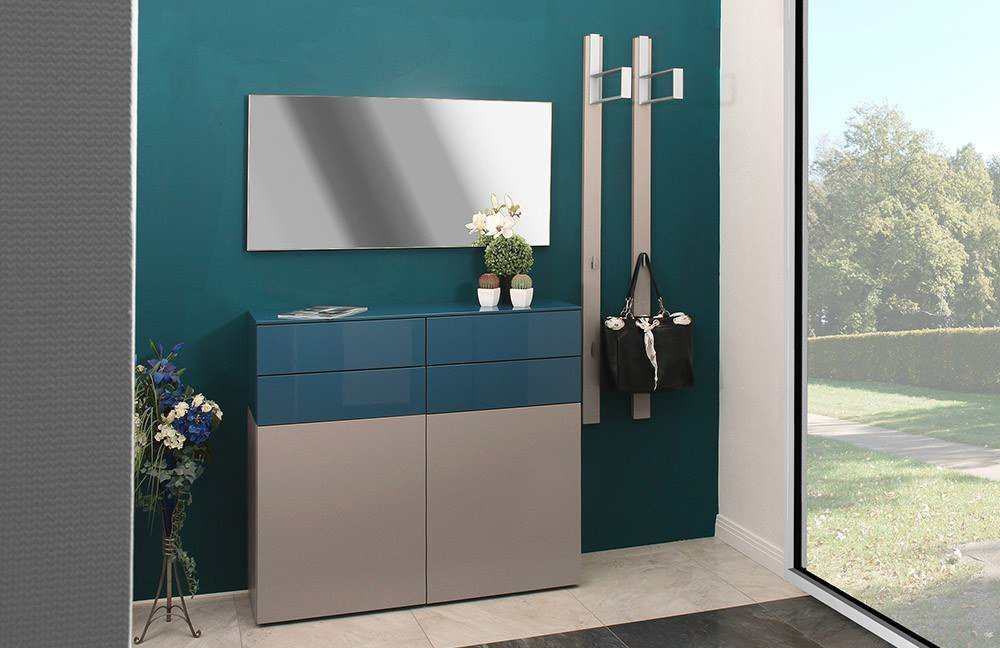 garderobe ted lack terra pacificblau von sudbrock m bel letz ihr online shop. Black Bedroom Furniture Sets. Home Design Ideas