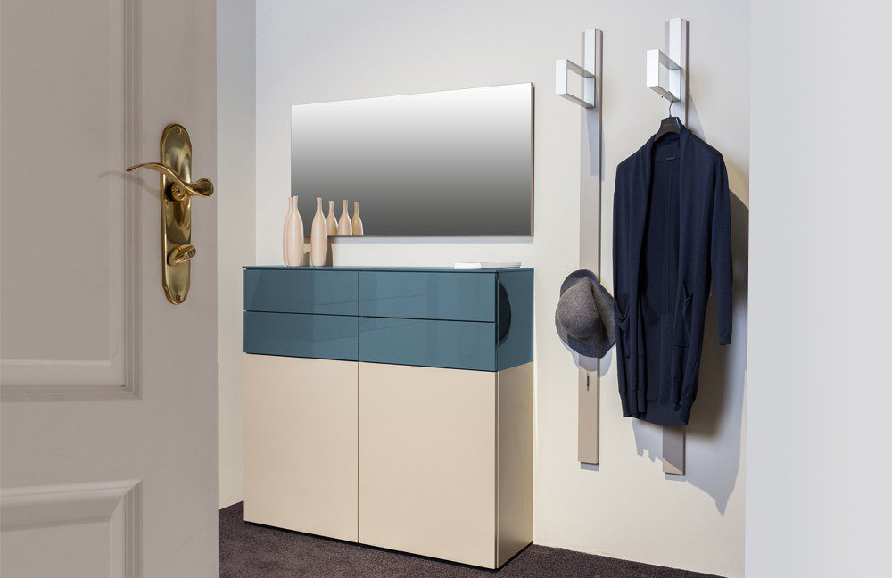 garderobe ted lack terra pacificblau hochglanz von sudbrock m bel letz ihr online shop. Black Bedroom Furniture Sets. Home Design Ideas