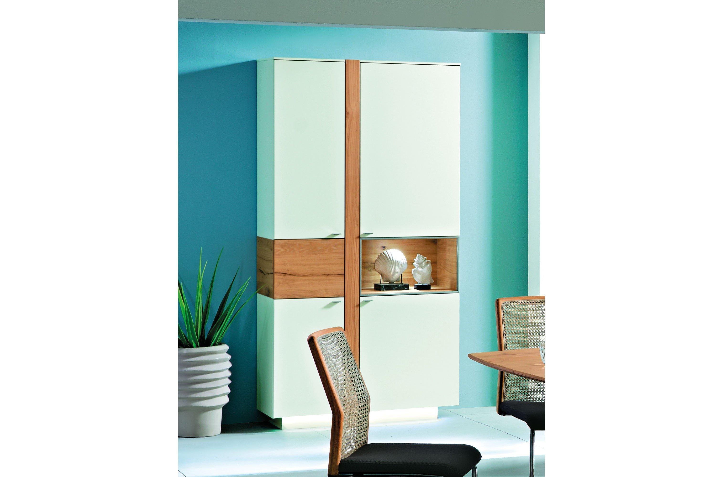 vitrine albero vasco lack wei matt santanaeiche hell. Black Bedroom Furniture Sets. Home Design Ideas