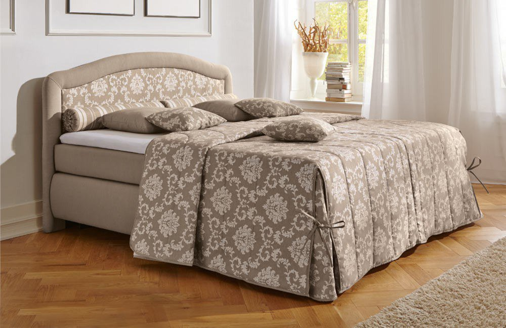 hapo schlafm bel boxspringbett toskana in beige m bel. Black Bedroom Furniture Sets. Home Design Ideas