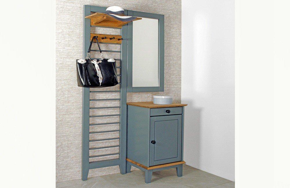 garderobe butler kiefernholz grau von iversen interi r. Black Bedroom Furniture Sets. Home Design Ideas