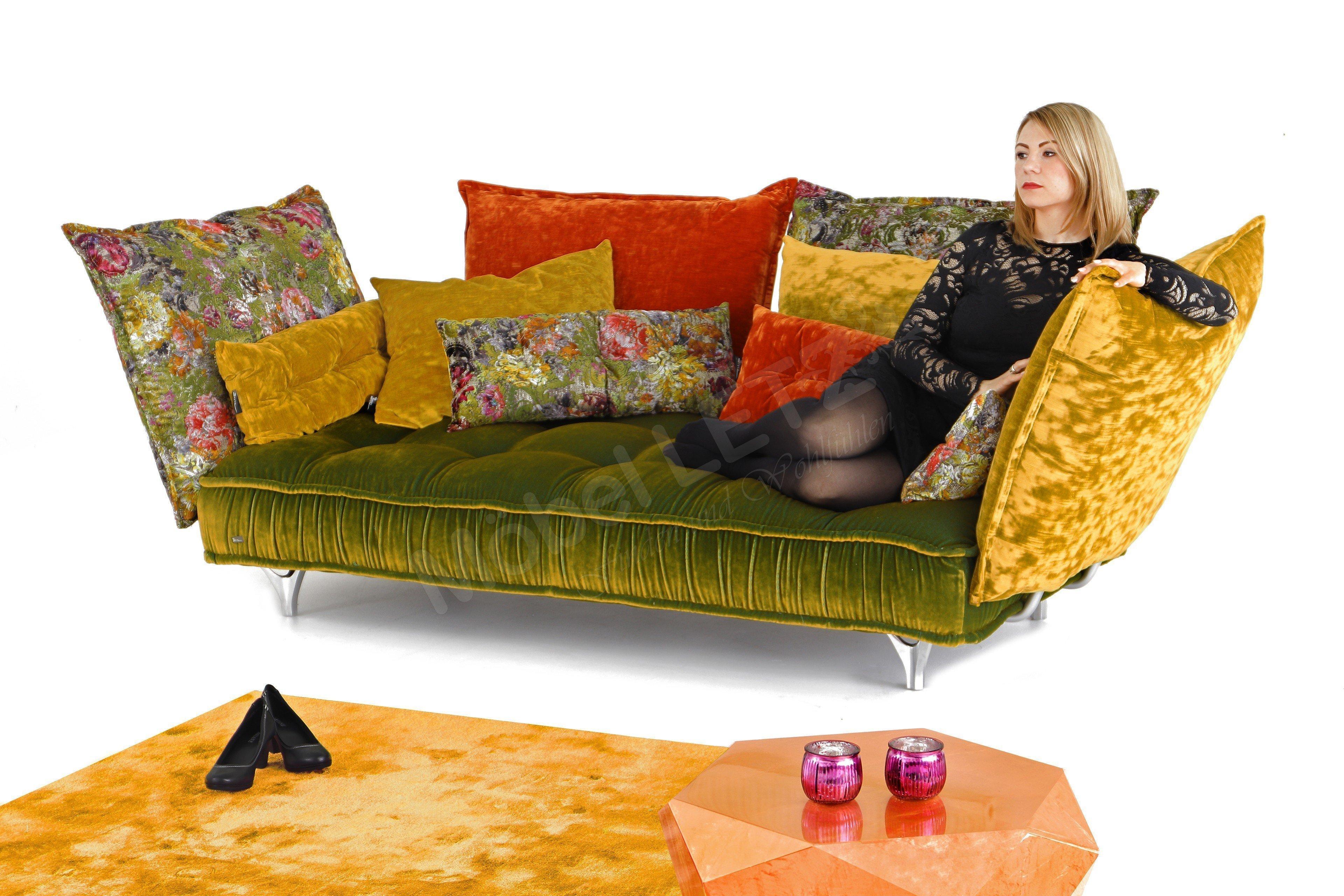 bretz ohlinda ecksofa oliv orange gold m bel letz ihr online shop. Black Bedroom Furniture Sets. Home Design Ideas