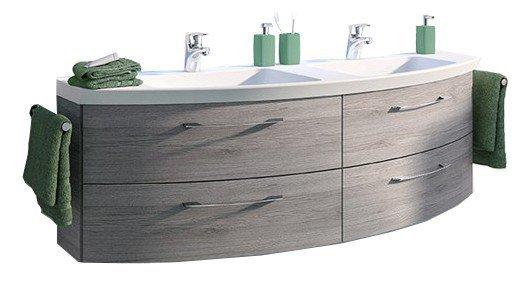 Pelipal Cassca Doppelwaschtisch ~ Pelipal badezimmer cassca graphit struktur möbel letz ihr