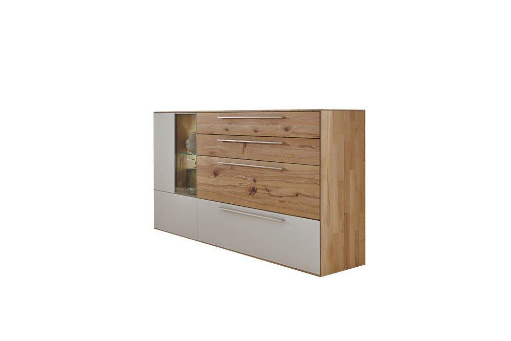 w stmann highboard calleo wildeiche mattglas bianco m bel letz ihr online shop. Black Bedroom Furniture Sets. Home Design Ideas