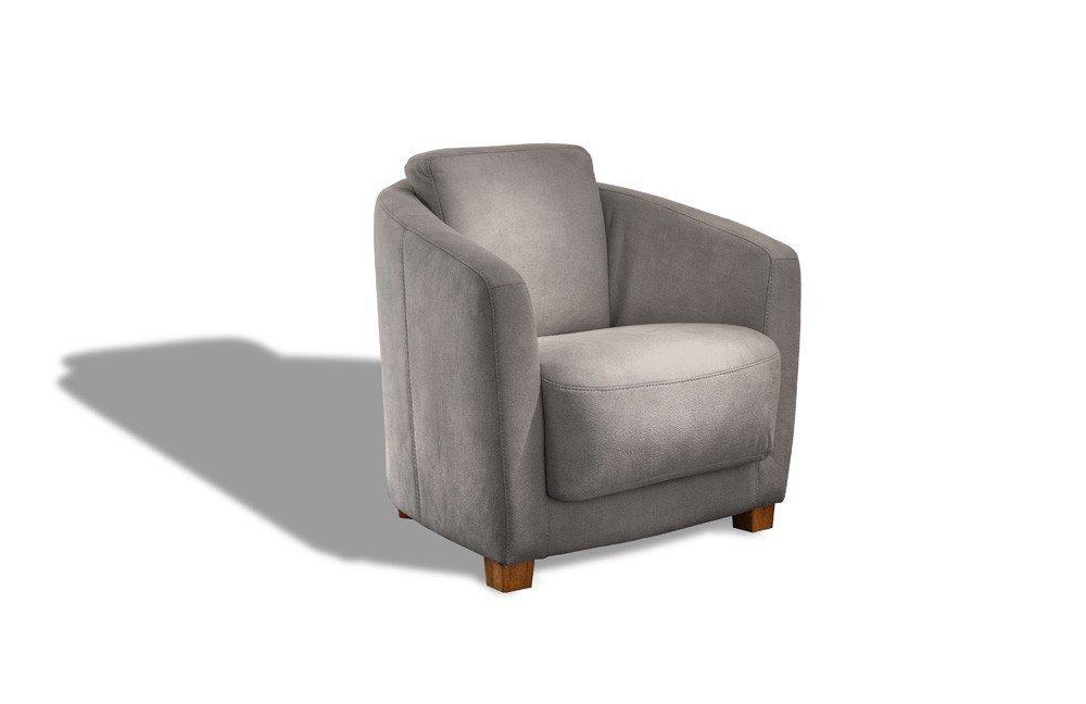 carina polsterm bel lux sessel in grau m bel letz ihr online shop. Black Bedroom Furniture Sets. Home Design Ideas