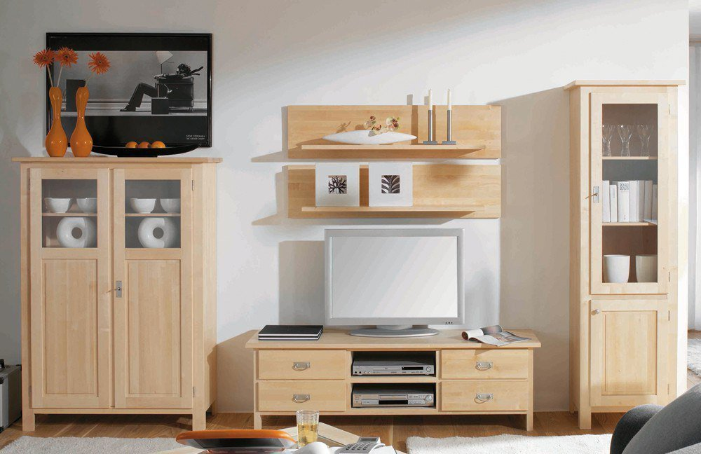 wohnwand lisa birke variante 1 von dudinger m bel letz ihr online shop. Black Bedroom Furniture Sets. Home Design Ideas