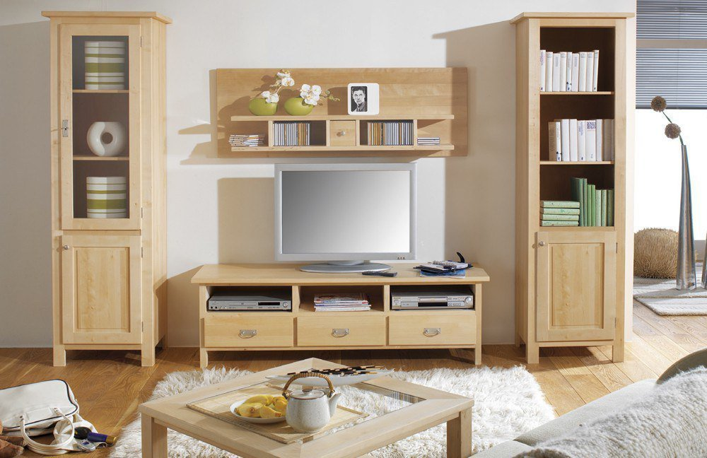 wohnwand lisa birke variante 2 von dudinger m bel letz ihr online shop. Black Bedroom Furniture Sets. Home Design Ideas